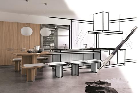 Etape de création d'un agencement de cuisine moderne