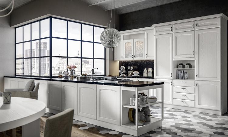 Cuisine classique de marque Home cuisines en massif massif et plan de travail en granit