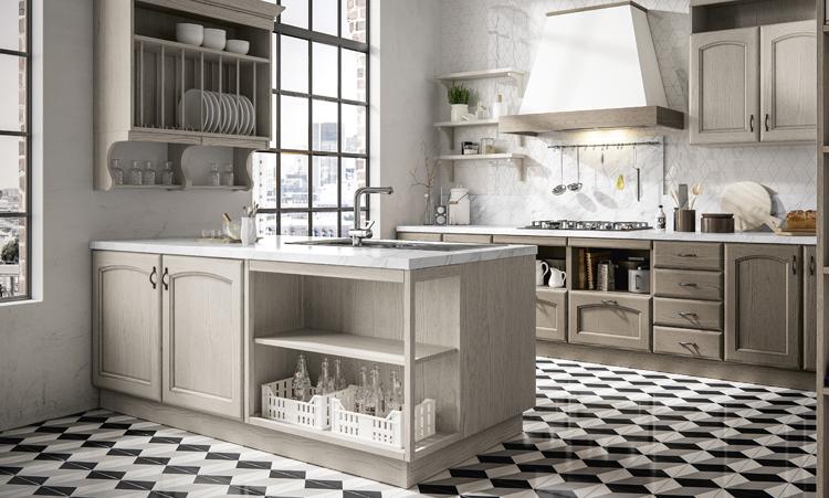 Cuisine classique de marque Home cuisines en massif massif et plan de travail en stratifié