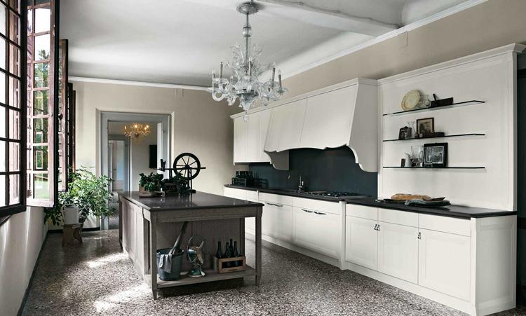 Cuisine classique de marque Oldline cuisines en massif massif et plan de travail en Granit
