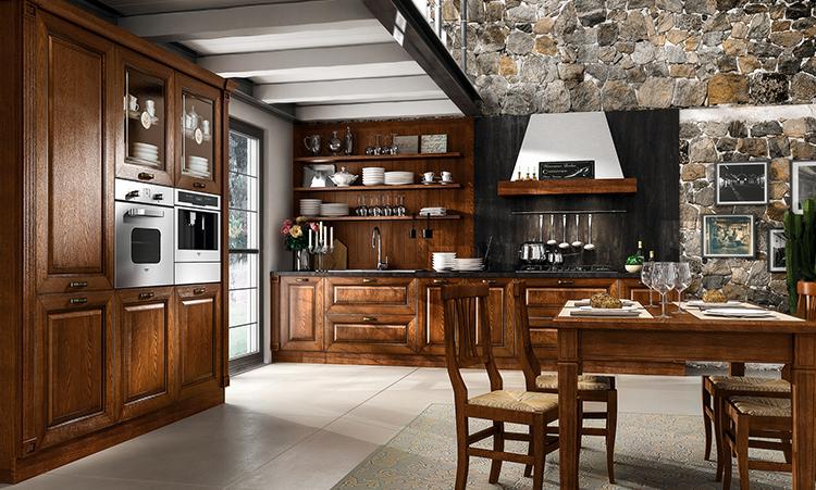 Cuisine traditionelle de marque Home cuisines en massif et plan de travail en granit