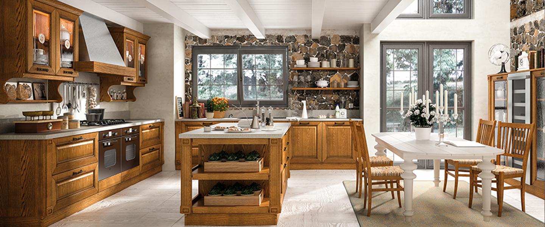 Cuisine classique de marque Home cuisines en massif et plan de travail en stratifié